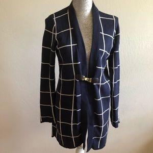 Charter Club stripes medium long sleeves cardigan